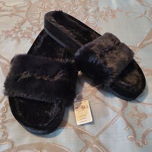 Victoria's Secret PINK Faux Fur Fuzzy Slides